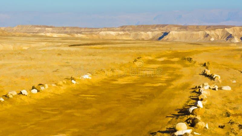 Desierto en Israel ilustración del vector