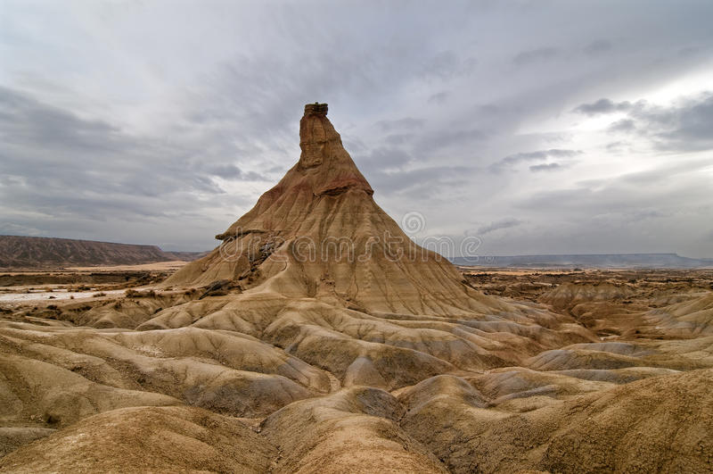 Desierto erosionado imagen de archivo