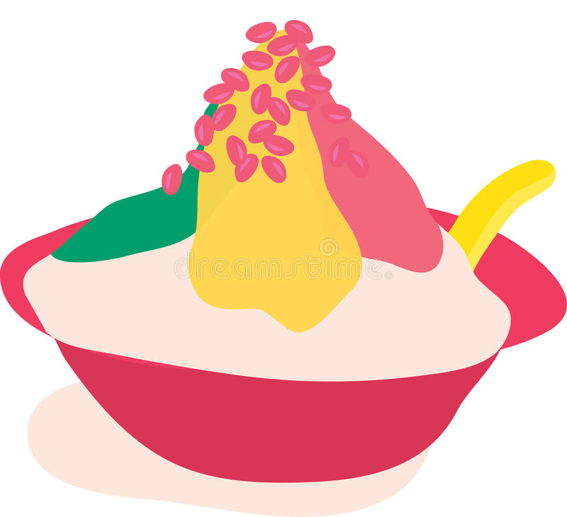 Desierto helado stock de ilustración