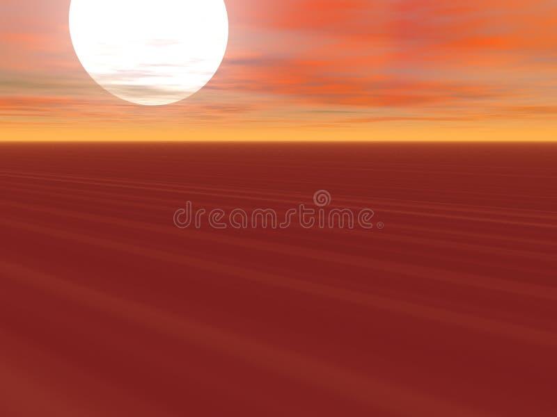 Desierto sin fin ilustración del vector