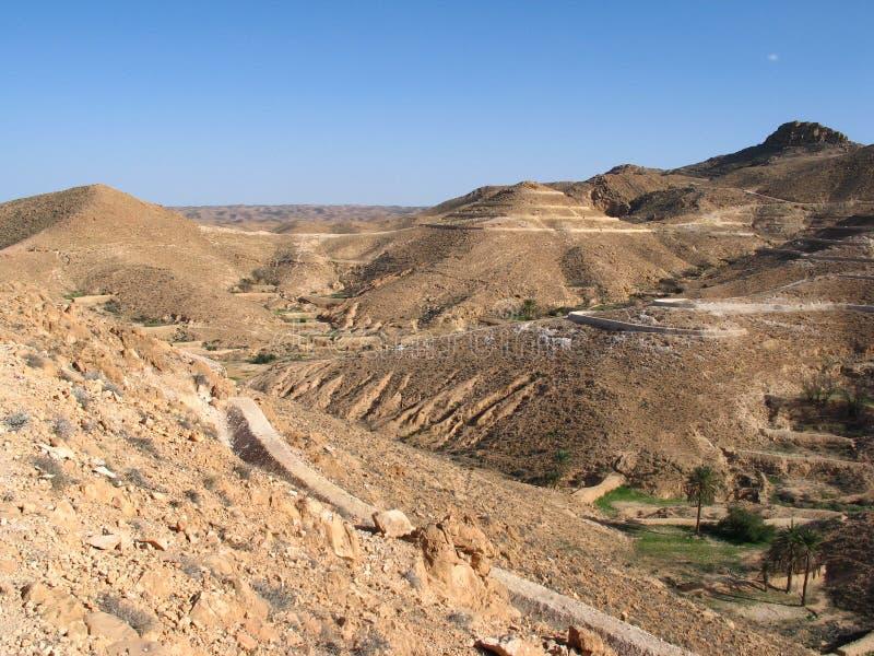 Desierto y montañas fotografía de archivo