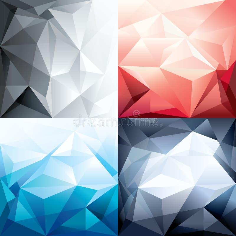 Desig的抽象时髦多角形形状背景 皇族释放例证