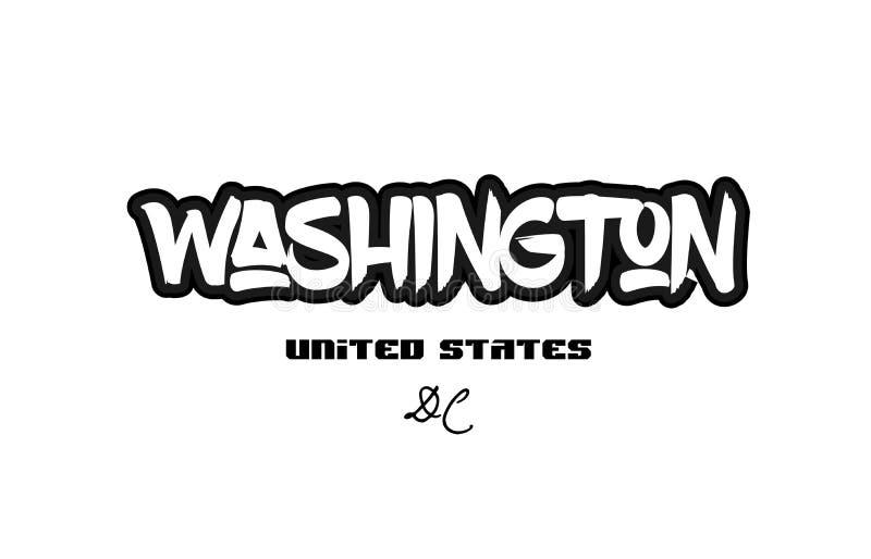 Desig оформления шрифта graffitti города dc Соединенных Штатов Вашингтона бесплатная иллюстрация