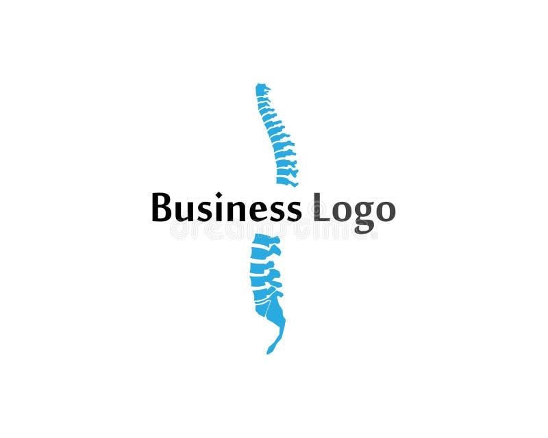 Desig del ejemplo del vector de la plantilla del logotipo del símbolo de los diagnósticos de la espina dorsal libre illustration