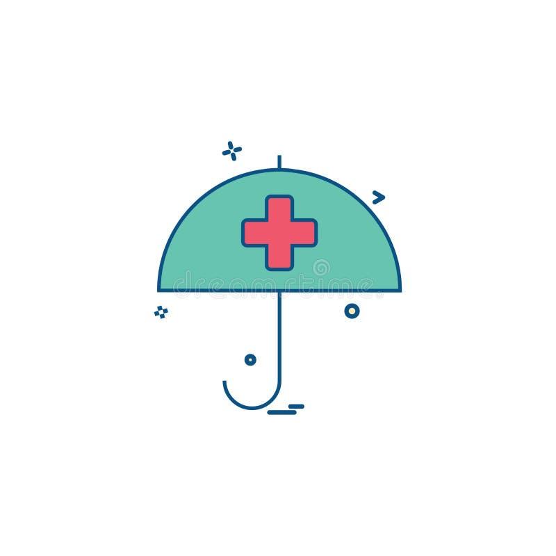 desige för vektor för symbol för paraply för hälsovårdsjukförsäkring medicinsk vektor illustrationer