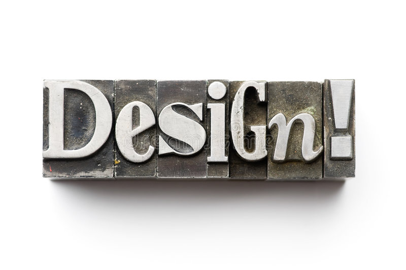 Design. The word Design photographed using a mix of vintage letterpress characters