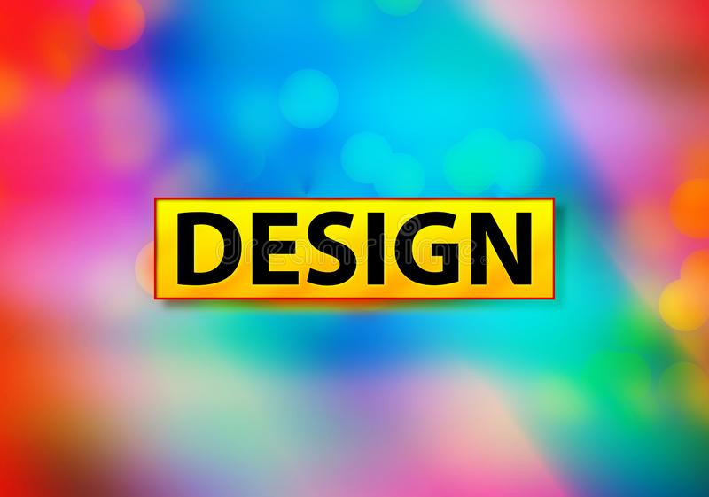 Design Abstract Colorful Background Bokeh Design Illustration. Design Isolated on Yellow Banner Abstract Colorful Background Bokeh Design Illustration vector illustration