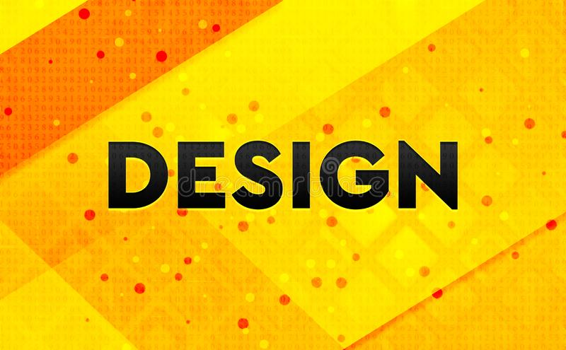 Design abstract digital banner yellow background. Design isolated on abstract digital banner yellow background stock illustration