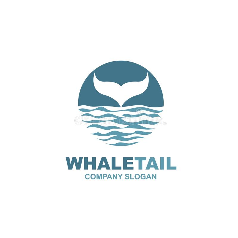 Abstract whale icon stock illustration