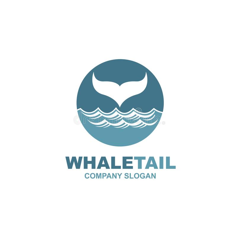 Abstract whale icon royalty free illustration