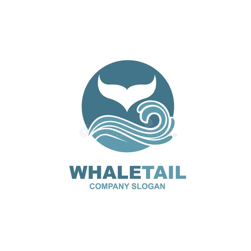 Abstract whale icon vector illustration