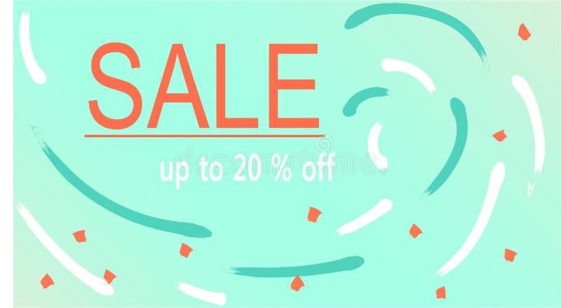 Design av en webbsida med information om försäljning stock illustrationer