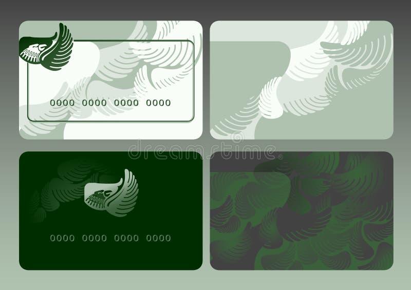 Design av ett plast- kort royaltyfri illustrationer