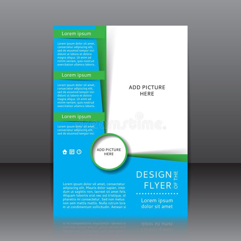 Design av reklambladillustrationen stock illustrationer