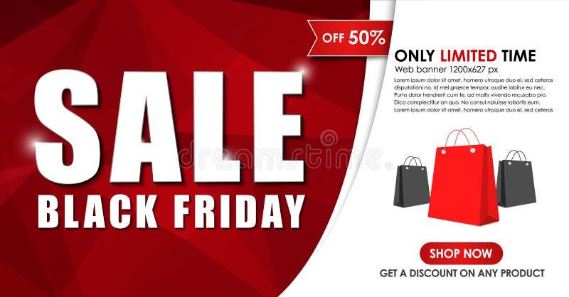 Design av rengöringsdukbanret för försäljningar på Black Friday vektor illustrationer