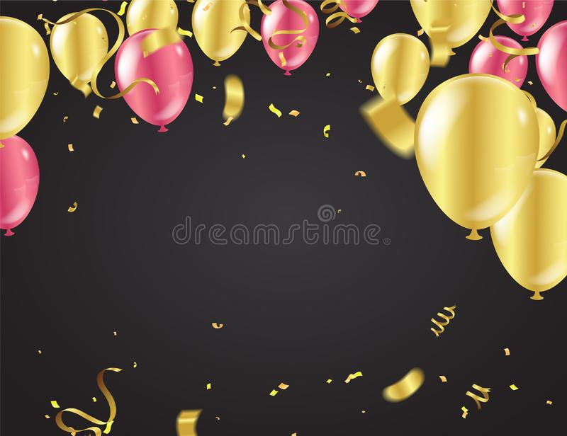 Design balloons sale template happy day, greeting background. Celebration Vector illustration vector illustration