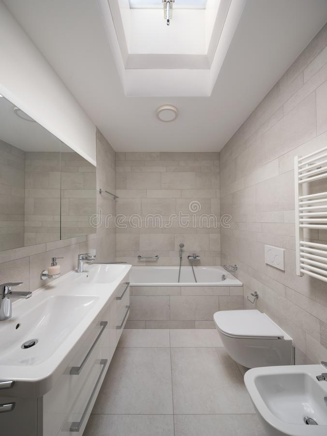 Design bathroom in modern home royalty free stock photos