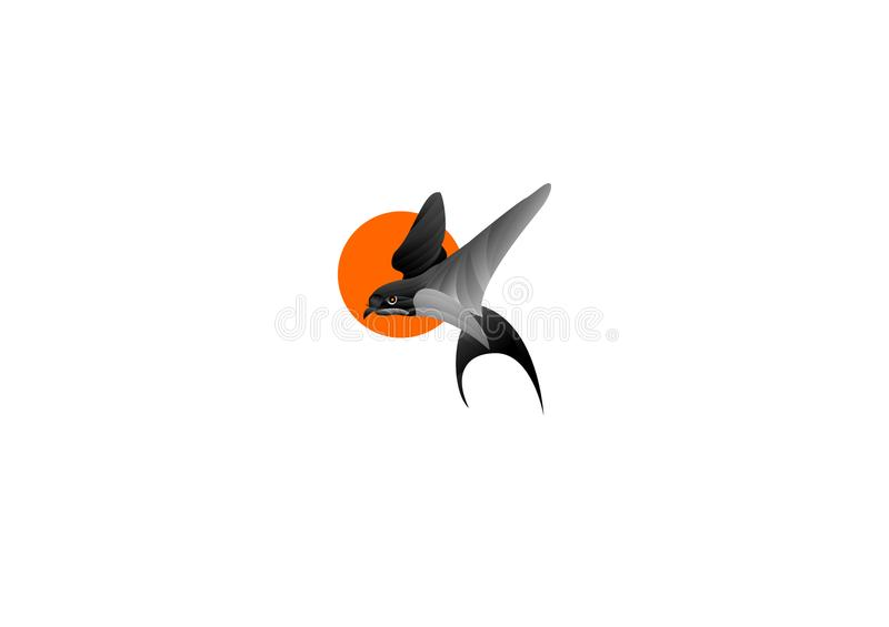 Bird logo ilstration 2d stock photo