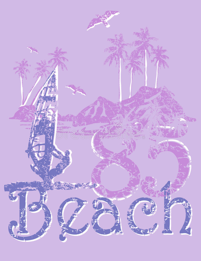 Design beach. Design evoking the activity in the vacations royalty free illustration