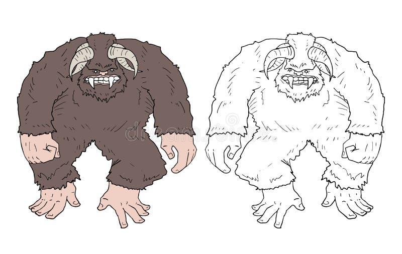 Big foot monster draw. Design of big foot monster draw royalty free illustration