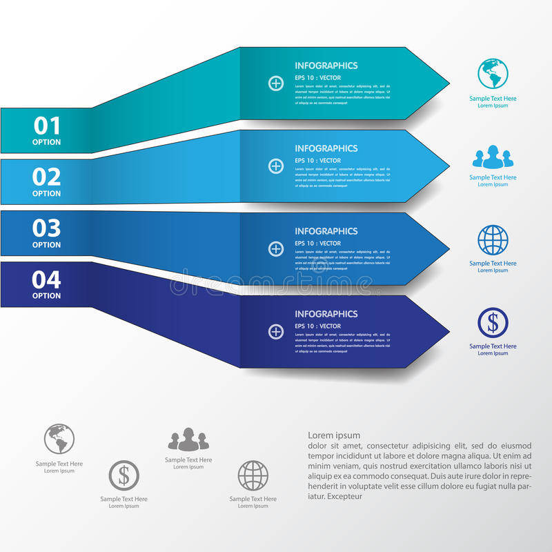 Design blue number banners template/graphic or website.vector. vector illustration
