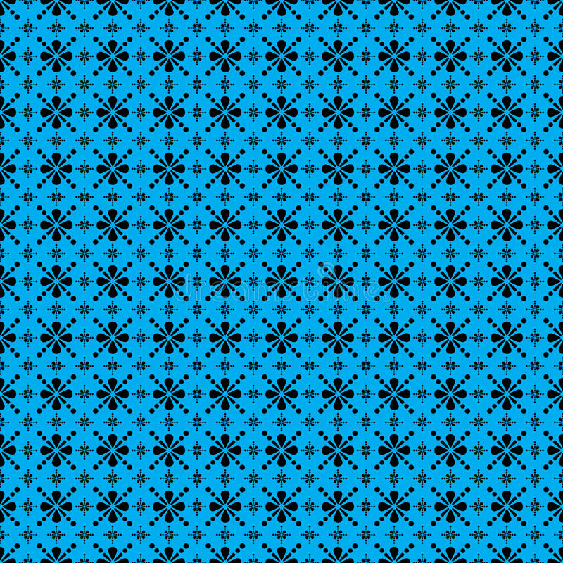 The Design Blue Vintage Style Wallpaper Background Stock Photography