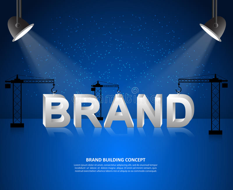 Design brand concept, Brand building background, startup and create brand. royalty free illustration