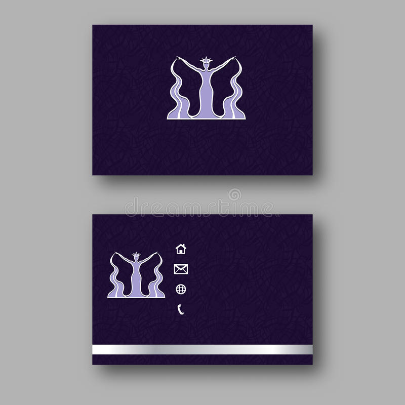 Design business card with logo of the goddess of water calling card download design business card with logo of the goddess of water calling card template accmission Choice Image