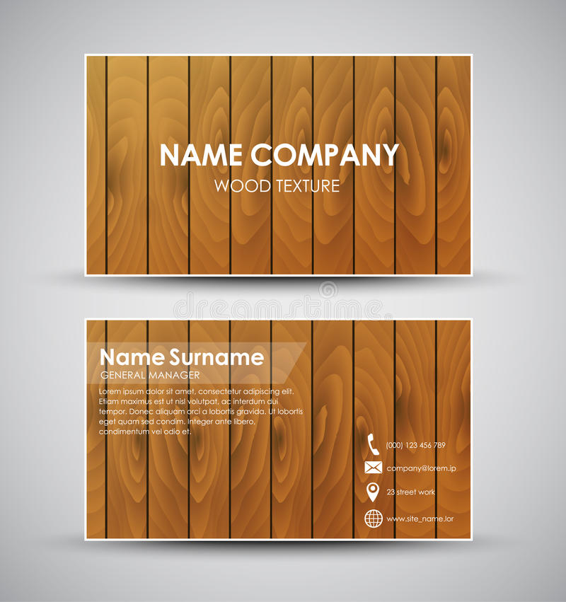 Design of the business card with wooden texture stock vector download design of the business card with wooden texture stock vector illustration of style colourmoves