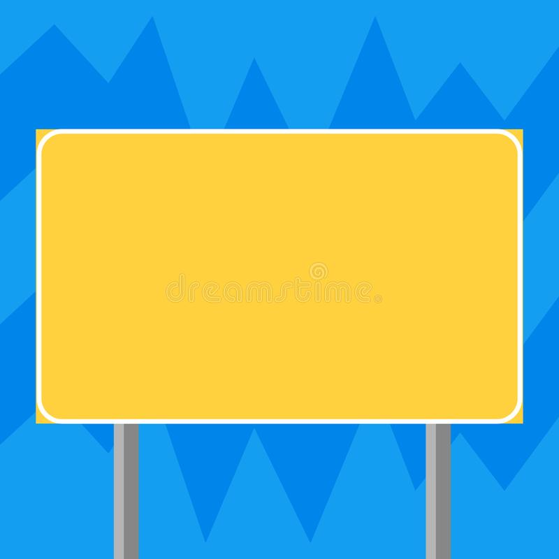 Design business concept Business ad for website promotion banners empty social media ad Blank Rectangular Outdoor Color royalty free illustration