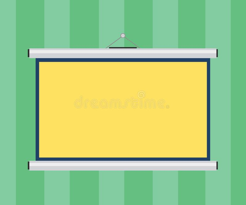 Design business concept Empty copy space modern abstract background Blank Portable Wall Hanged Projection Screen for royalty free illustration