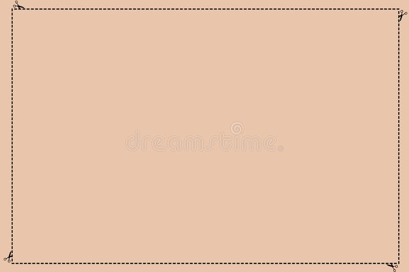 Design business concept Empty template copy space text for Ad website isolated Broken Dashed Cut Lines with Scissors. Design business concept Empty template copy stock illustration
