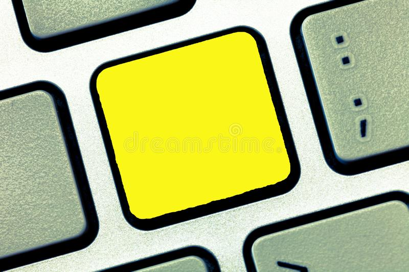 Design business concept Empty template copy space text for Ad website  Keyboard key Intention to create computer. Design business concept Empty template copy stock image