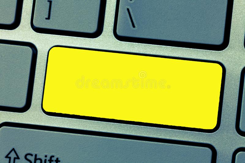 Design business concept Empty template copy space text for Ad website  Keyboard key Intention to create computer. Design business concept Empty template copy royalty free stock images