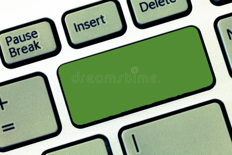Design business concept Empty template copy space text for Ad website  Keyboard key Intention to create computer. Design business concept Empty template copy royalty free stock image