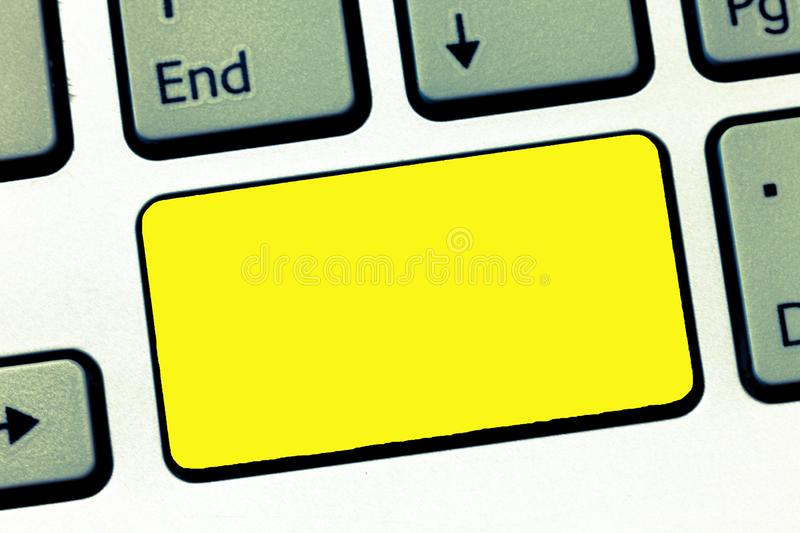 Design business concept Empty template copy space text for Ad website  Keyboard key Intention to create computer. Design business concept Empty template copy royalty free stock photography