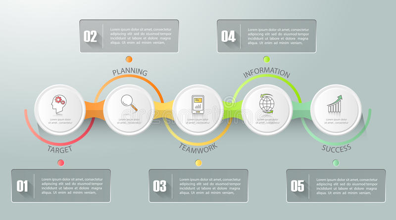 Design business concept infographic template. Can be used for workflow layout, diagram, number options, timeline or milestones project vector illustration