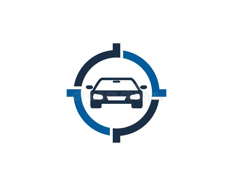 Automotive Target Logo Icon Design royalty free illustration