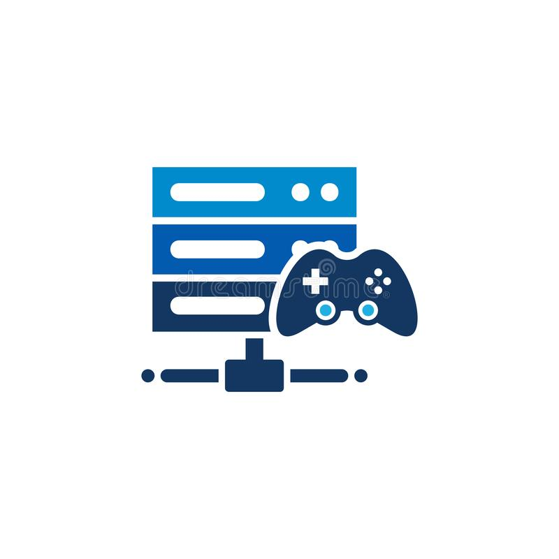 Console Server Logo Icon Design. This design can be used as a logo, icon or as a complement to a design vector illustration
