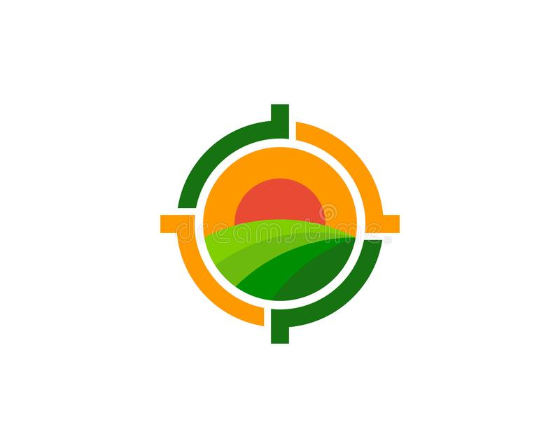 Field Target Logo Icon Design. This design can be used as a logo, icon or as a complement to a design stock illustration