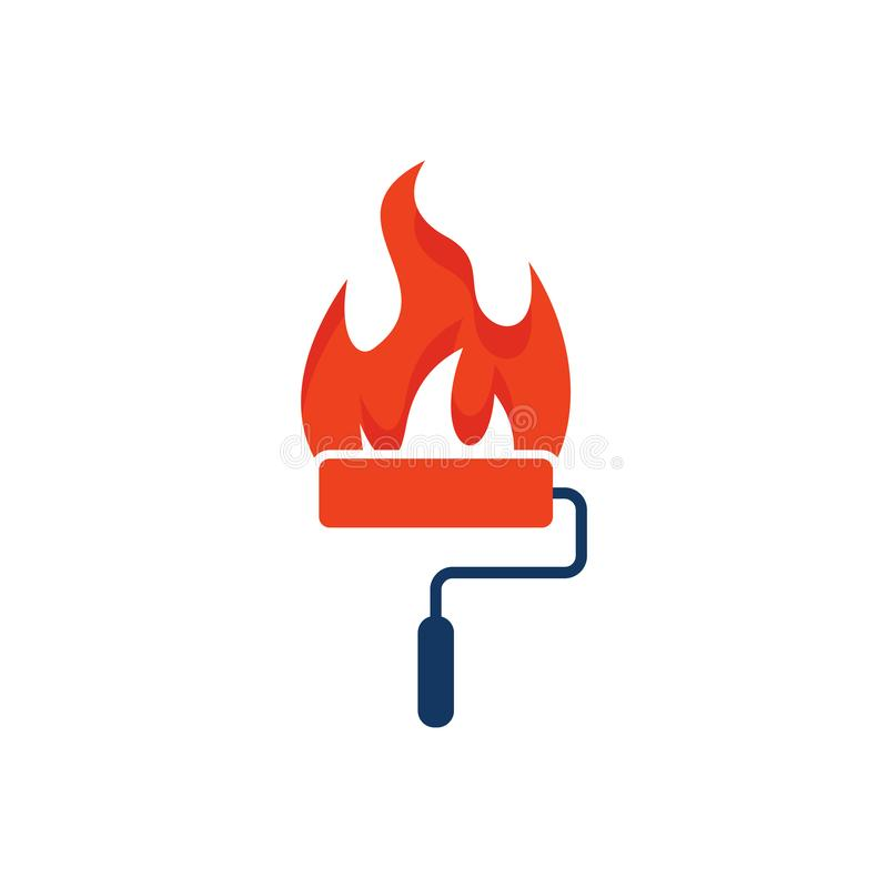 Flame Paint Logo Icon Design. This design can be used as a logo, icon or as a complement to a design vector illustration