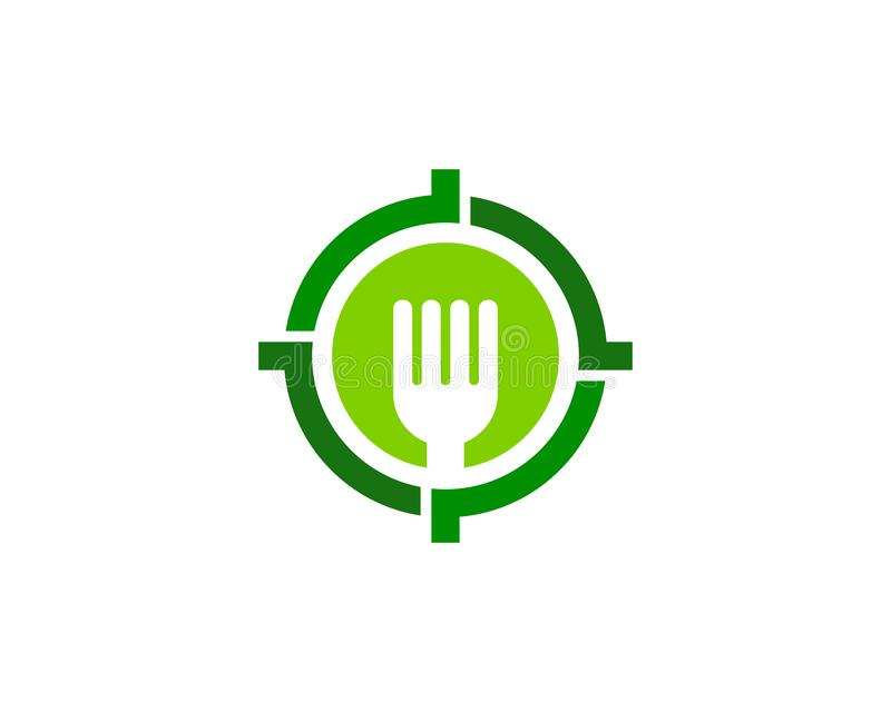 Fork Target Logo Icon Design. This design can be used as a logo, icon or as a complement to a design stock illustration