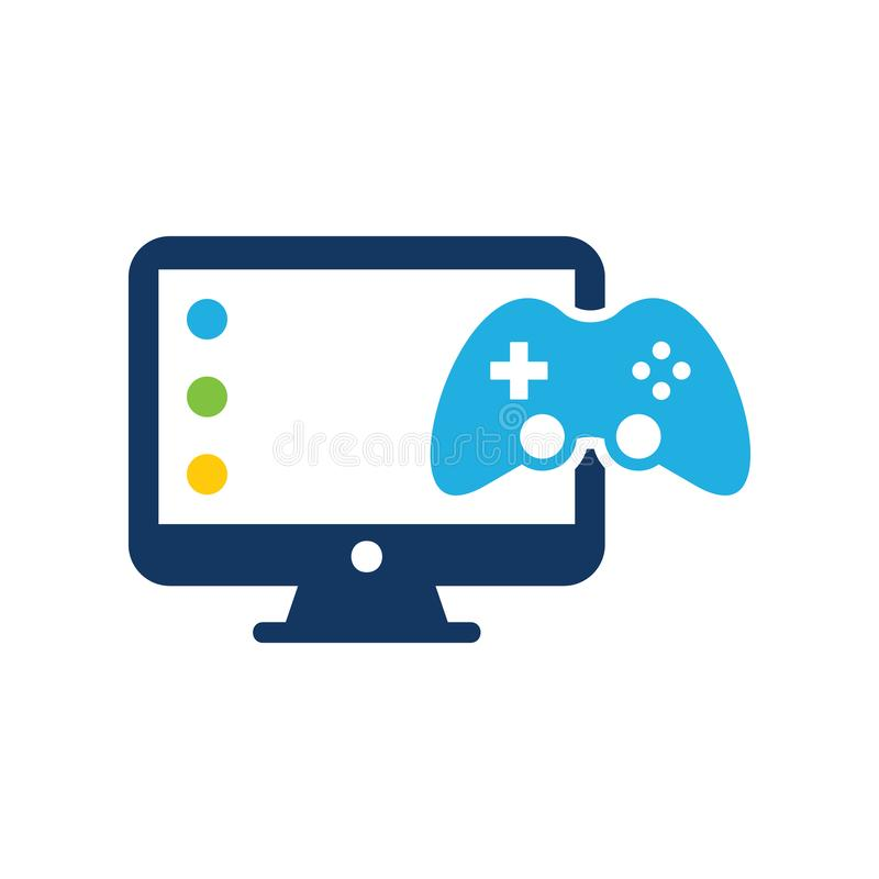 Game Computer Logo Icon Design. This design can be used as a logo, icon or as a complement to a design vector illustration
