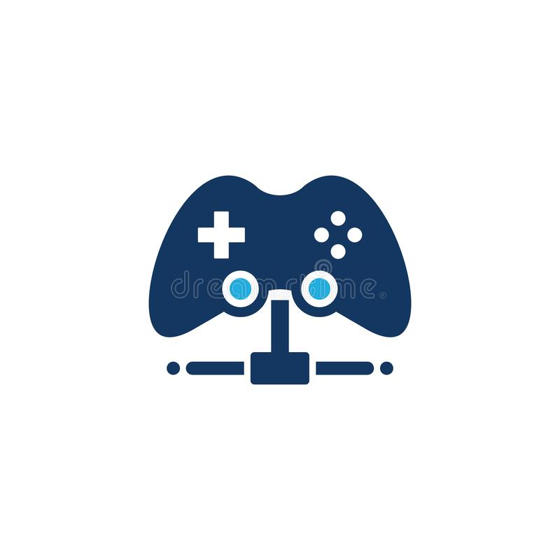 Game Server Logo Icon Design. This design can be used as a logo, icon or as a complement to a design royalty free illustration
