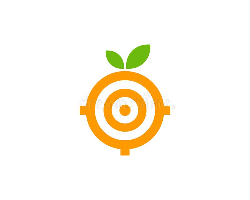 Juicy Target Logo Icon Design. This design can be used as a logo, icon or as a complement to a design stock illustration