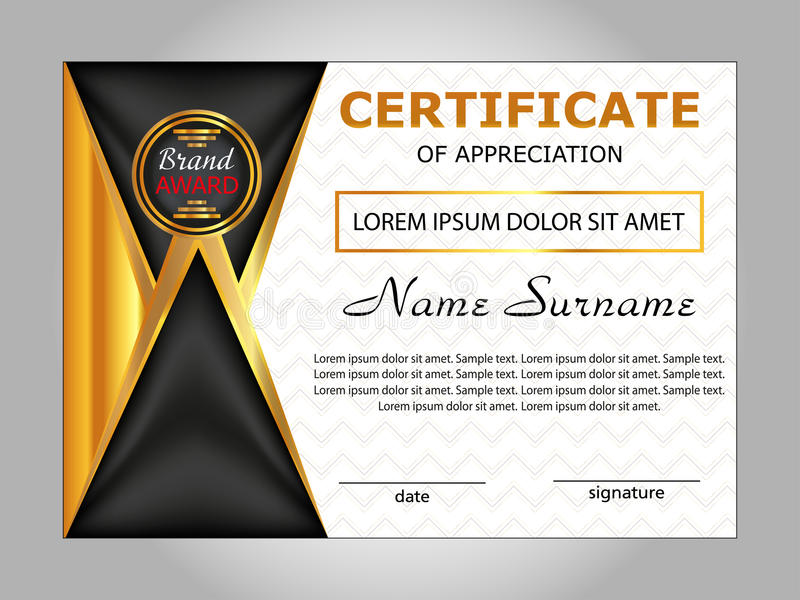 Design certificate of appreciation diploma horizontal template download design certificate of appreciation diploma horizontal template stock vector illustration of black yadclub Image collections