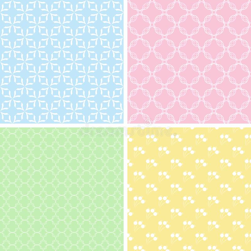 Design 4 Chic different vector patterns. royalty free illustration