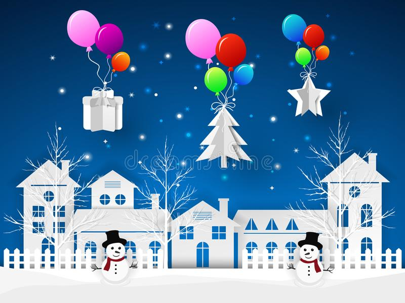 Design Christmas greeting card, and Happy new year message royalty free illustration