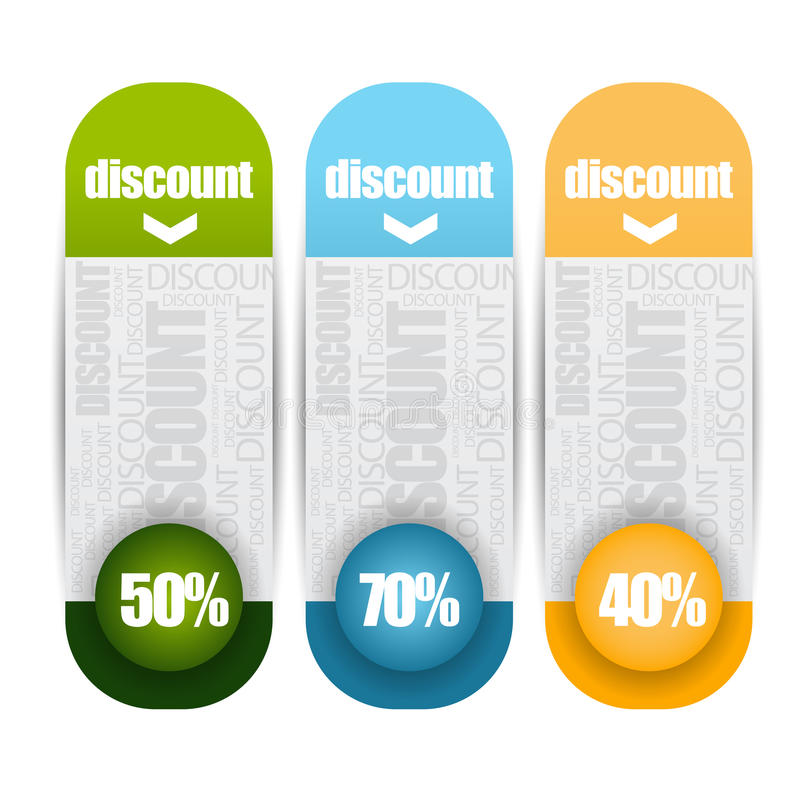 Design clean discount banners template/graphic or website layout. royalty free illustration