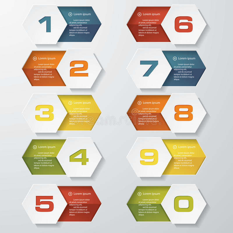 Free Design Clean Number Banners Template Royalty Free Stock Photo - 40184845